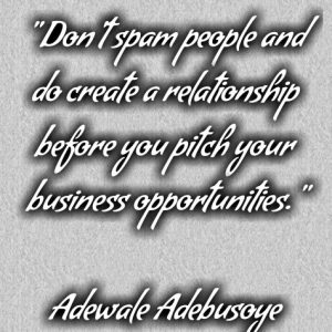 HOW CAN I HAVE A SUCCESSFUL PROSPECTING? with Adewale Adebusoye