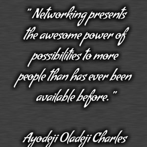 THE AWESOME POSSIBILITIES OF NETWORK MARKETING?